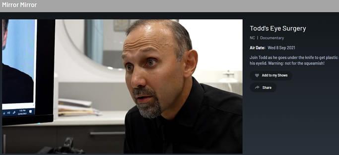 Dr Barnouti operates on Todd Sampson
